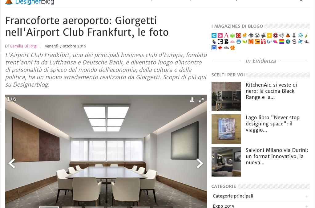 Bloggo: Giorgetti im Airport Club